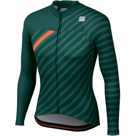 Sportful Bodyfit Team Maillot à manches longues Hiver Homme, sea moss/green/orange sdr